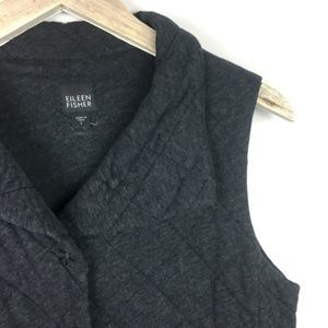 Eileen Fisher Quilted Grey Vest